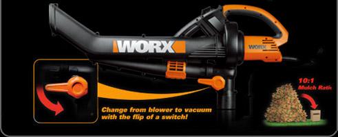 worx trivac simple flip switch to change modes